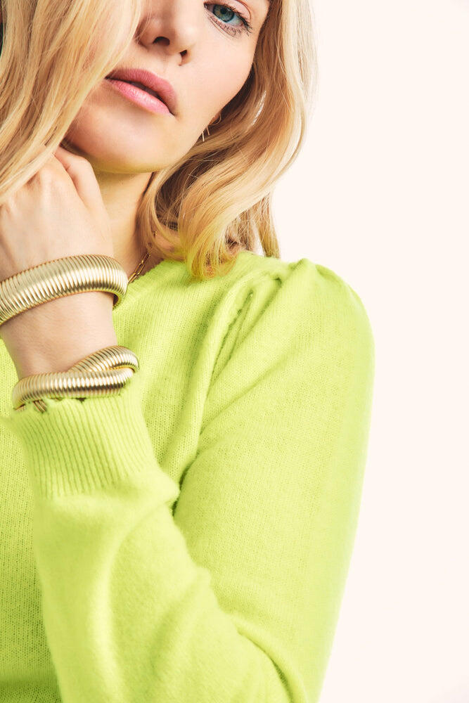 Lune Crop Pullover Neon Yellow
