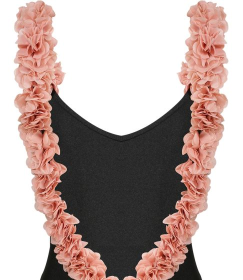 After Party Black & Dusty Pink One Piece
