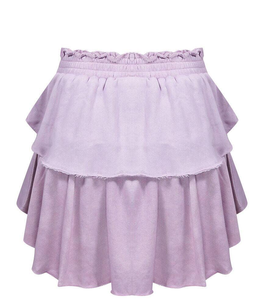 Ruffle Mini Skirt Lotus