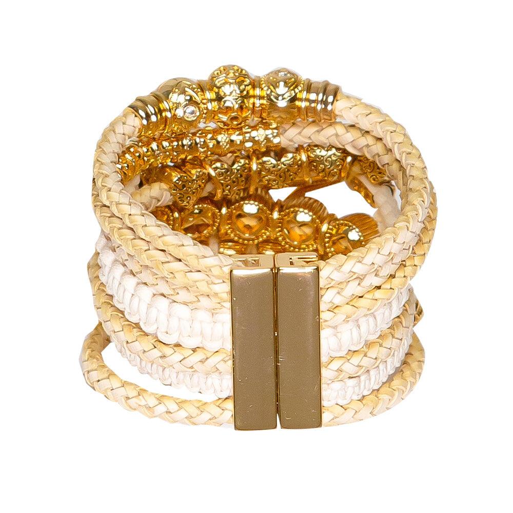 Gold Set Turquoise Starfish Bracelet