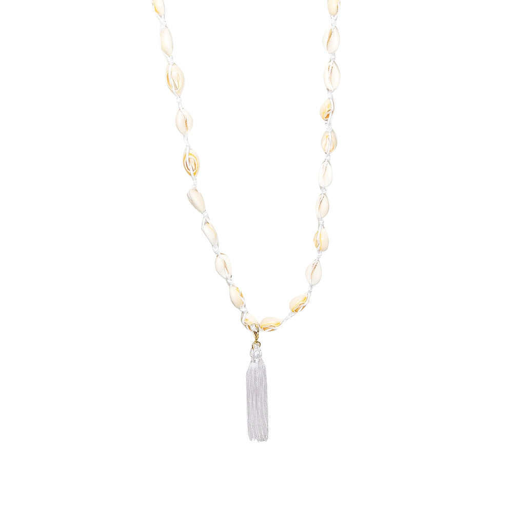 Shell Long Necklace White