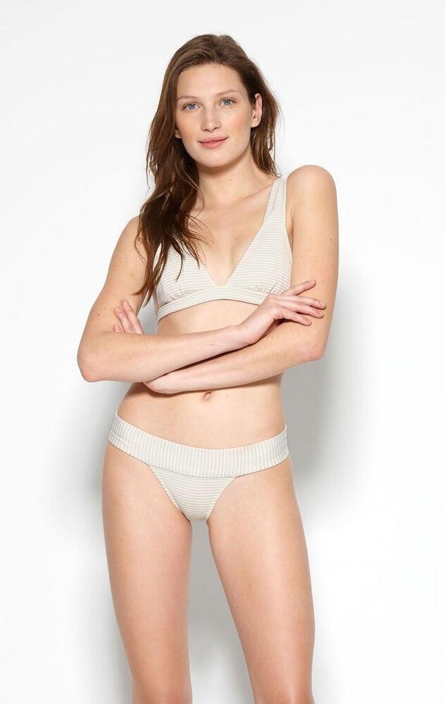 Marysia Bimini Bottom in Seta/Panna