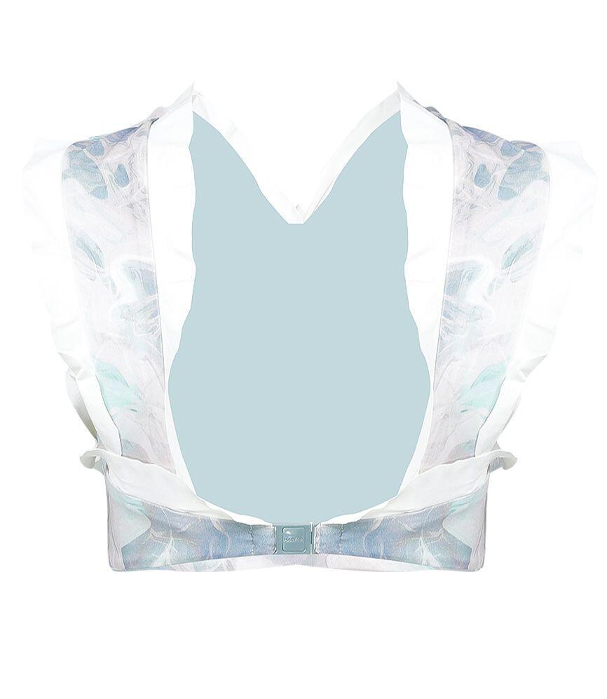 Marysia Oxford Top Smoke Blue Marble Print