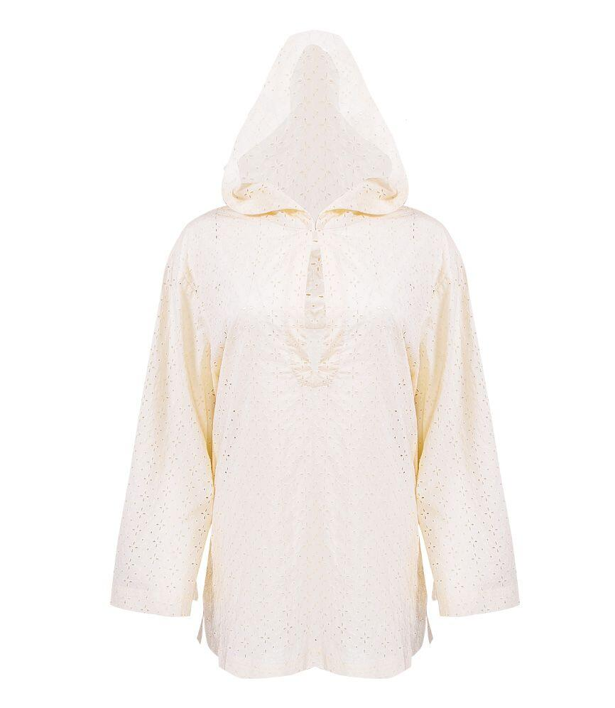 Marysia Short Dunmore Hooded Tunic in Panna