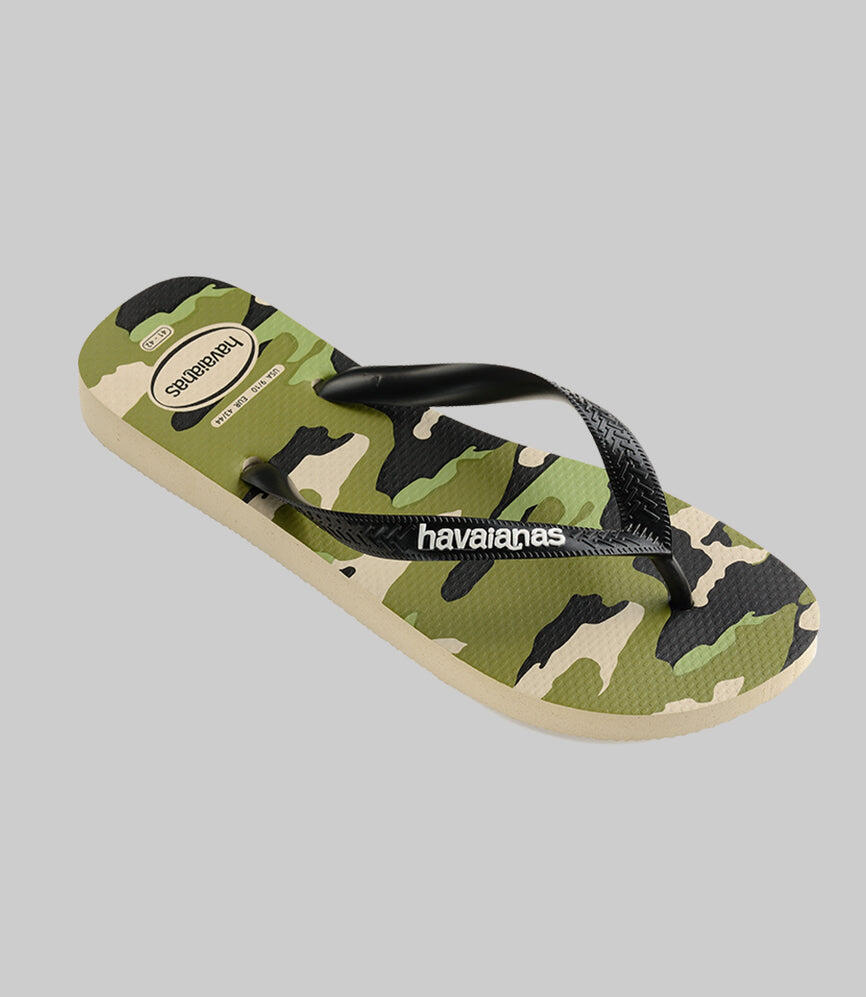 Kids Top Camu Flip Flops Beige/Black
