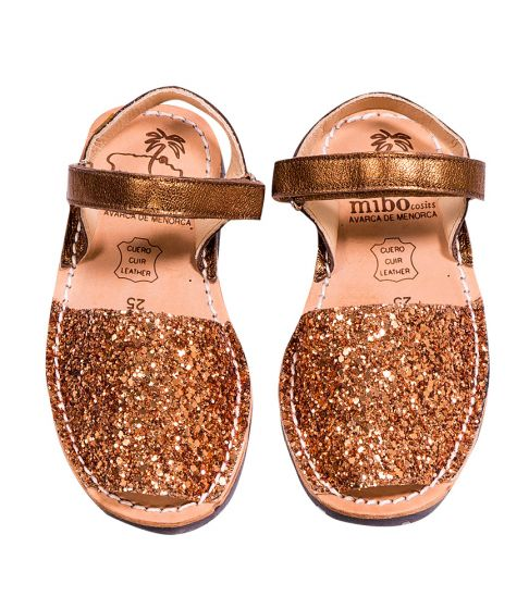 Mibo Kids Hook & Loop Bronze Glitter
