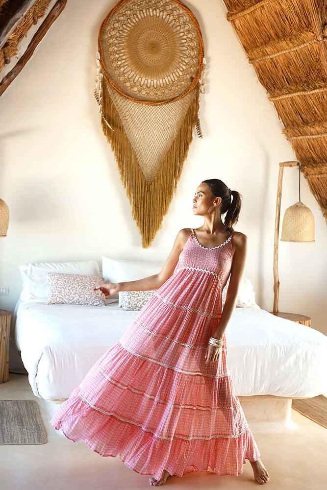 Robe Dress Manly Pink