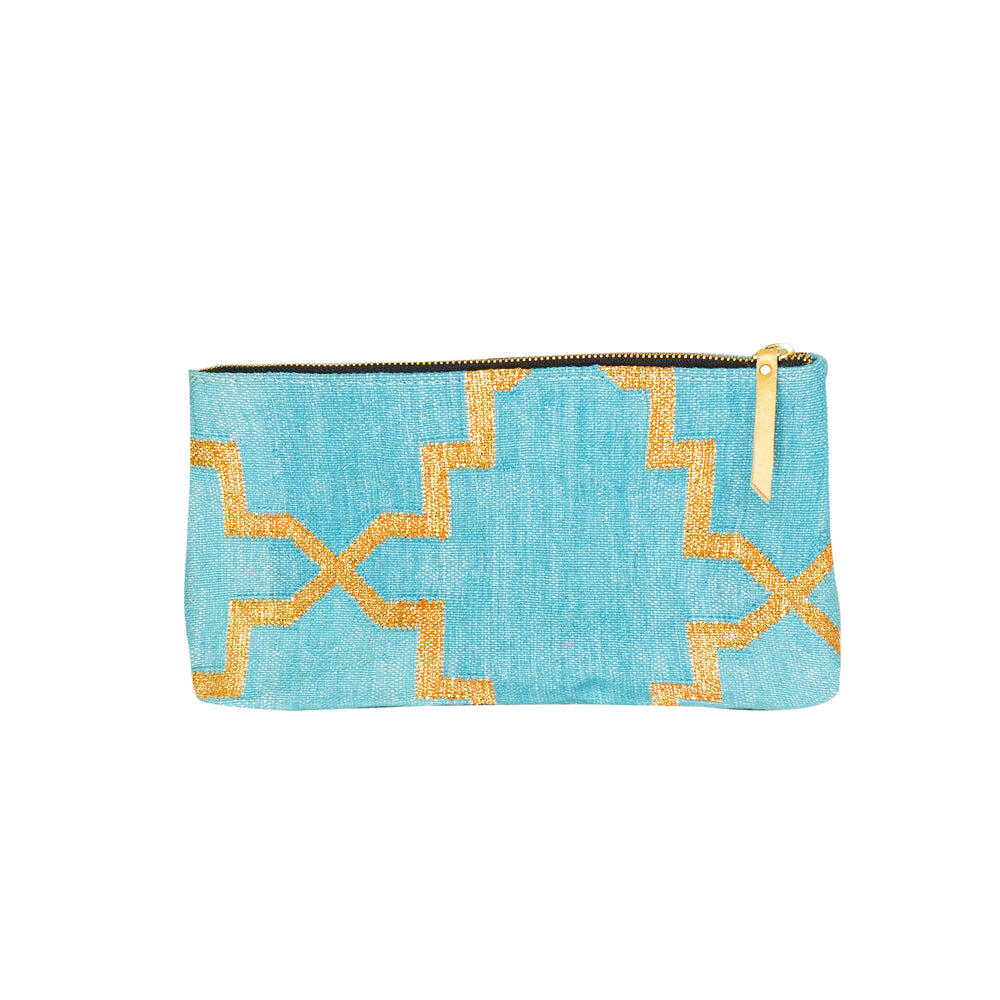 Turquoise Accessories Pouch