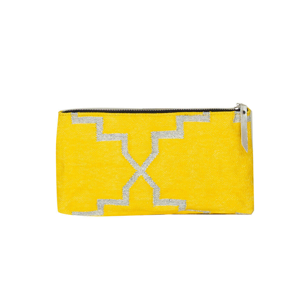 Yellow Accessories Pouch