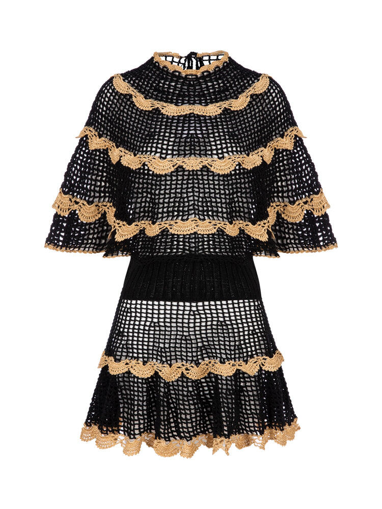 Alizze Hand-Knitted Dress Black