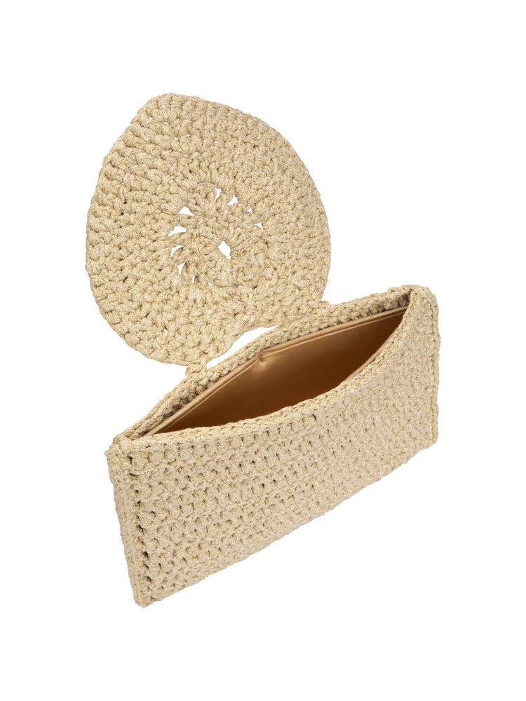Heart Handle Clutch Bag Gold