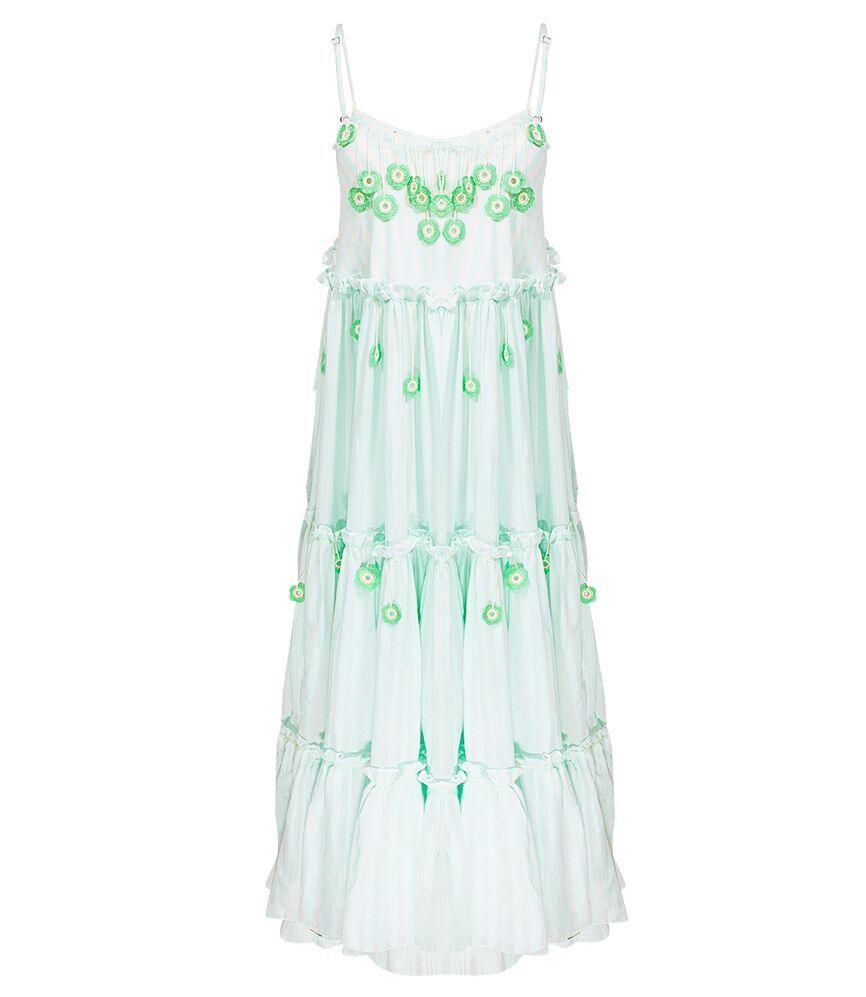 My Beachy Side Love Child Maxi Dress Mint