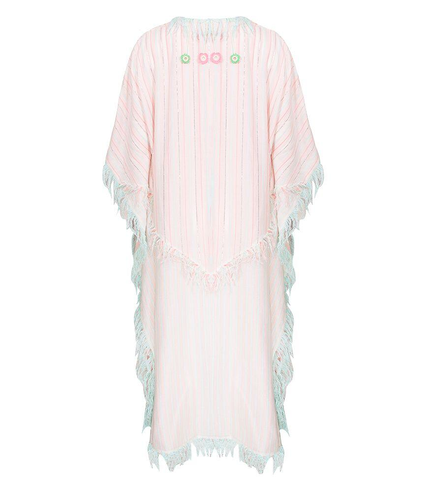 My Beachy Side Stardust Poncho Pink/Mint