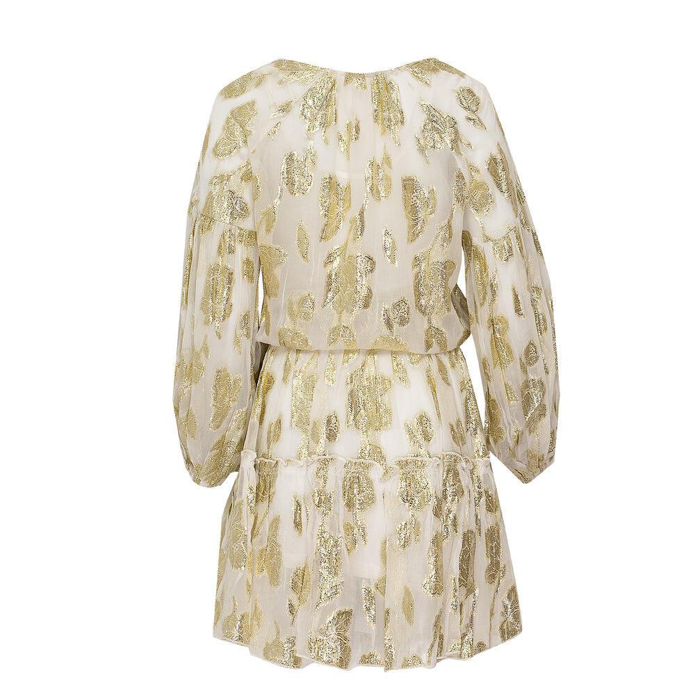 Iris White Gold Dress