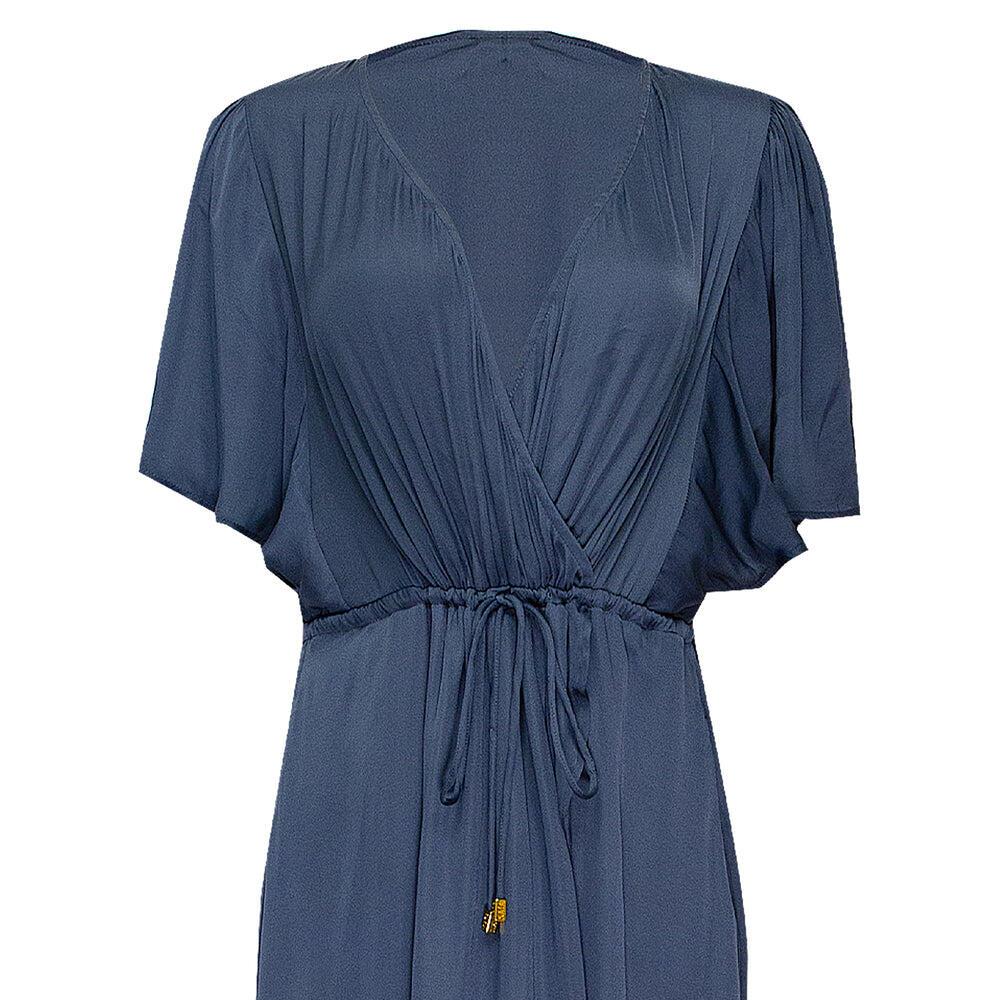 Thalia Pewter Wrap Dress