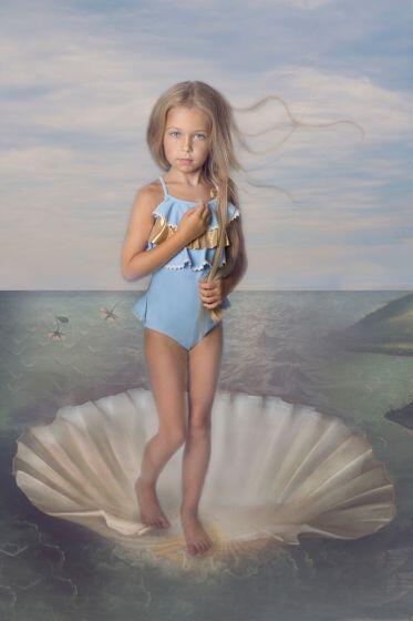 Nessi Byrd Corn Gold Ruffle Swimsuit