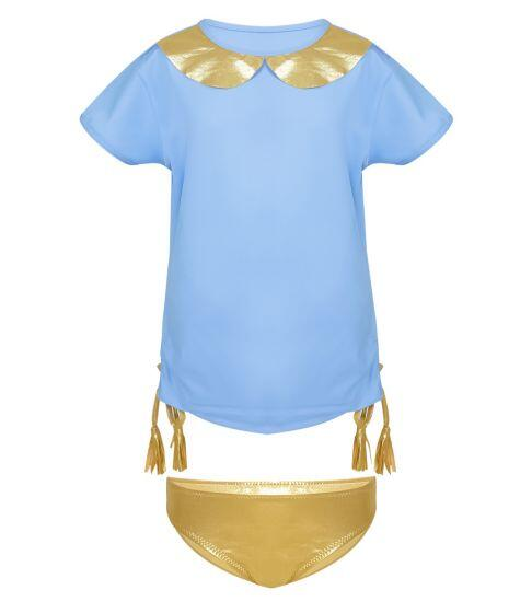 Nessi Byrd Lupine Gold Detail Rash Vest & Pants