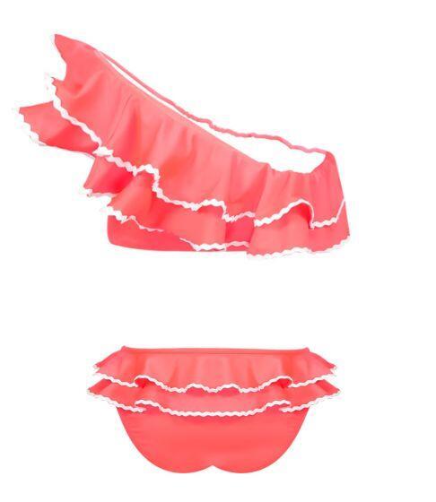 Nessi Byrd Peony One Shoulder Ruffle Bikini