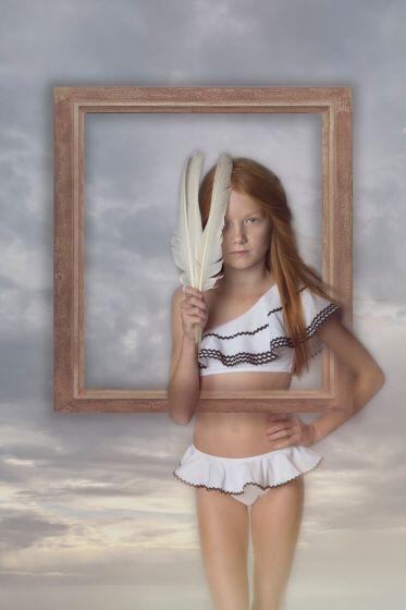 Nessi Byrd Rue One Shoulder Ruffle Bikini