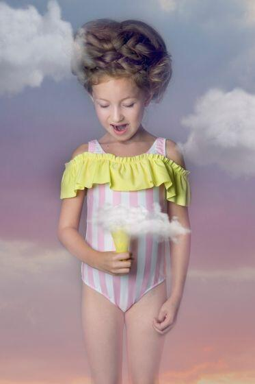 Nessi Byrd Sedum Stripe Swimsuit