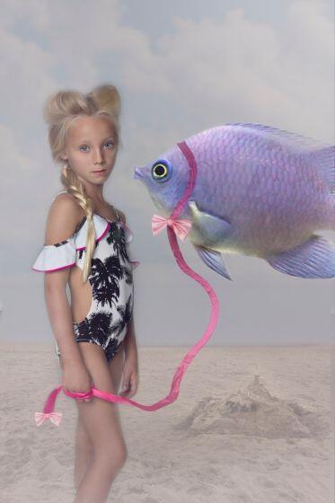 Nessi Byrd Vinca Open Shoulder Swimsuit
