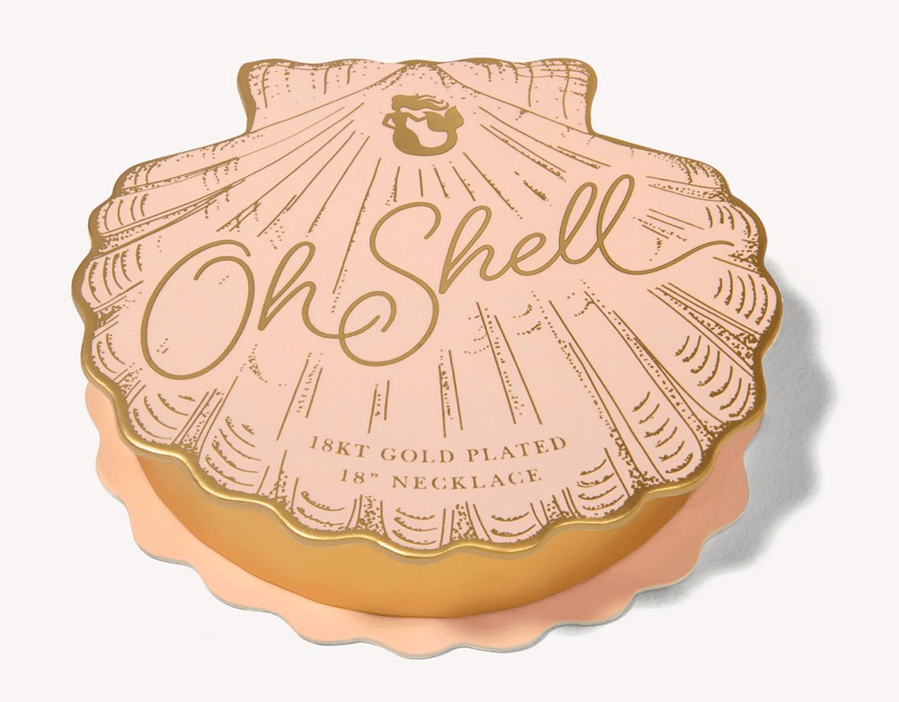 """Oh Shell Necklace 18"""" Lucky/Clam"""