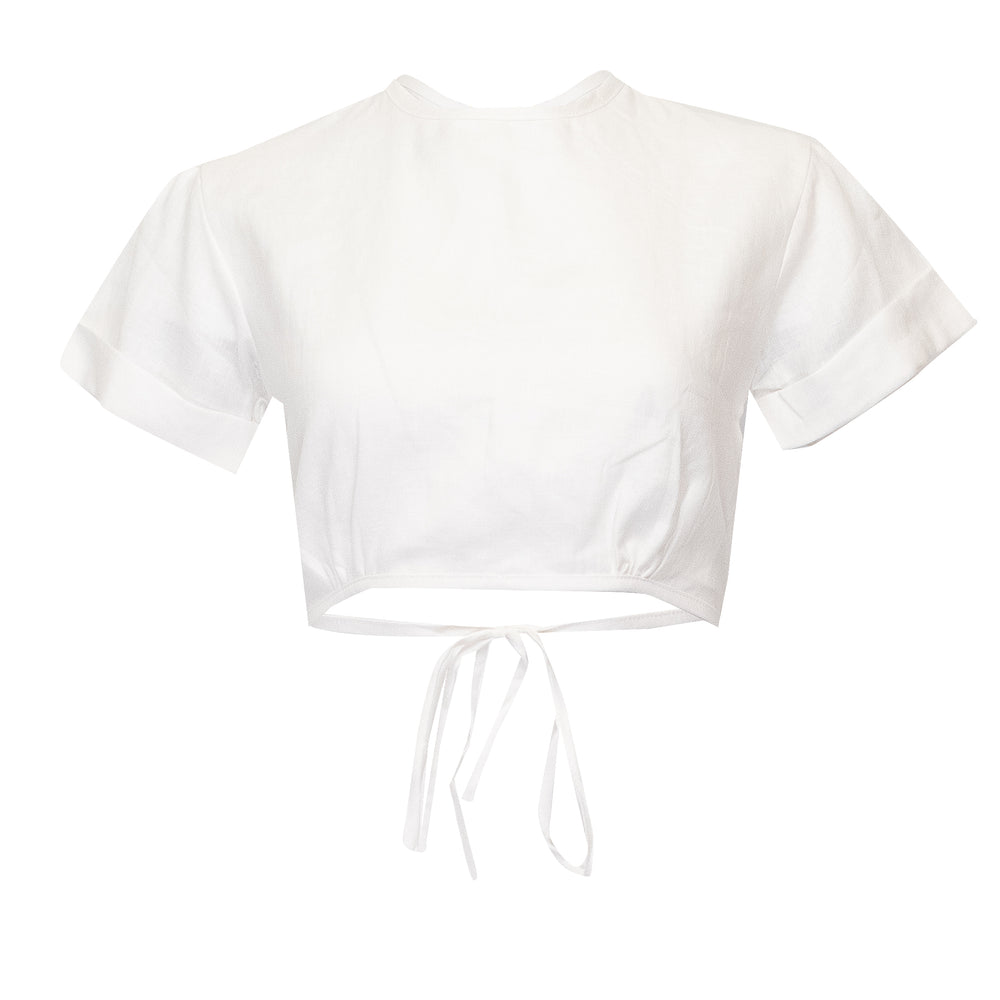 Double Crossed Top Off White