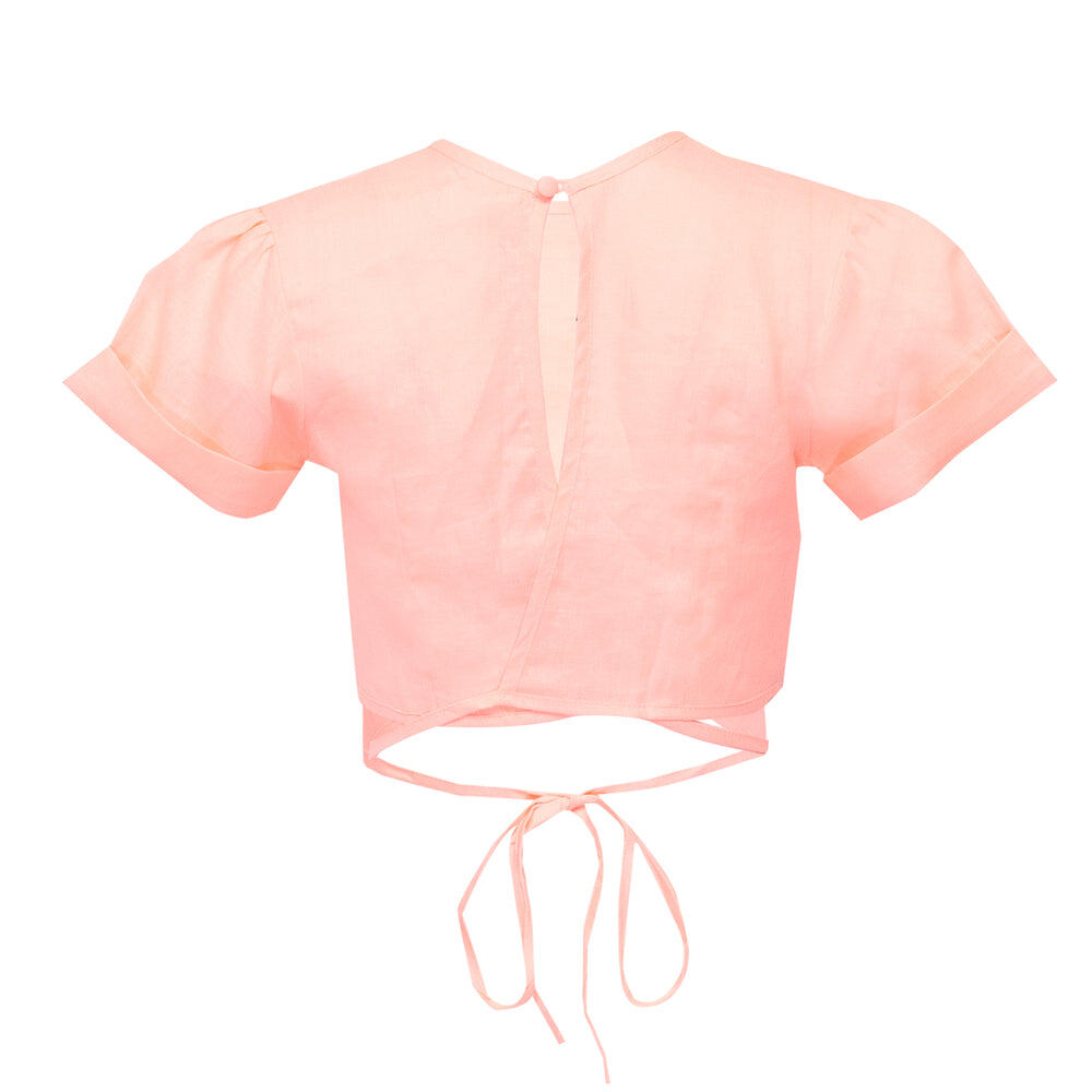 Double Crossed Top Pale Pink