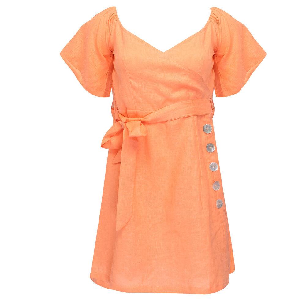 Mafi Shirt Dress Bright Orange