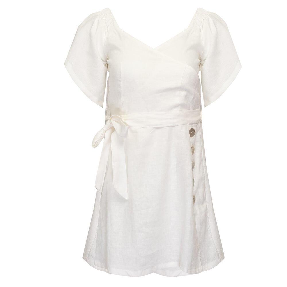 Mafi Shirt Dress Off White