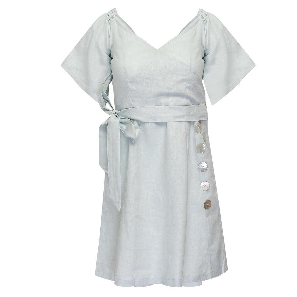 Mafi Shirt Dress Pale Blue