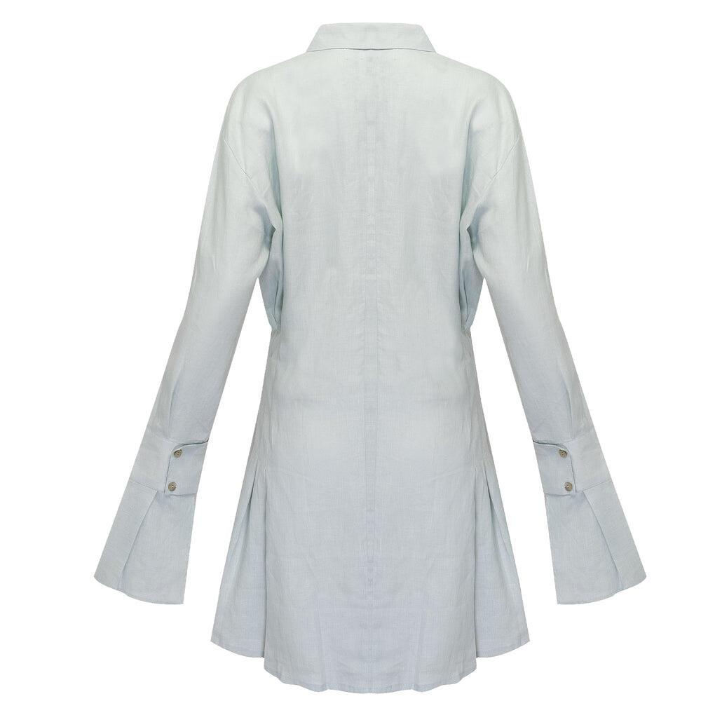Mila Shirt Dress Pale Blue