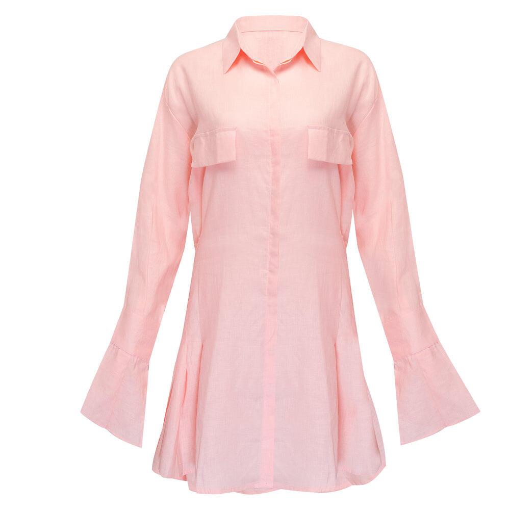 Mila Shirt Dress Pale Pink