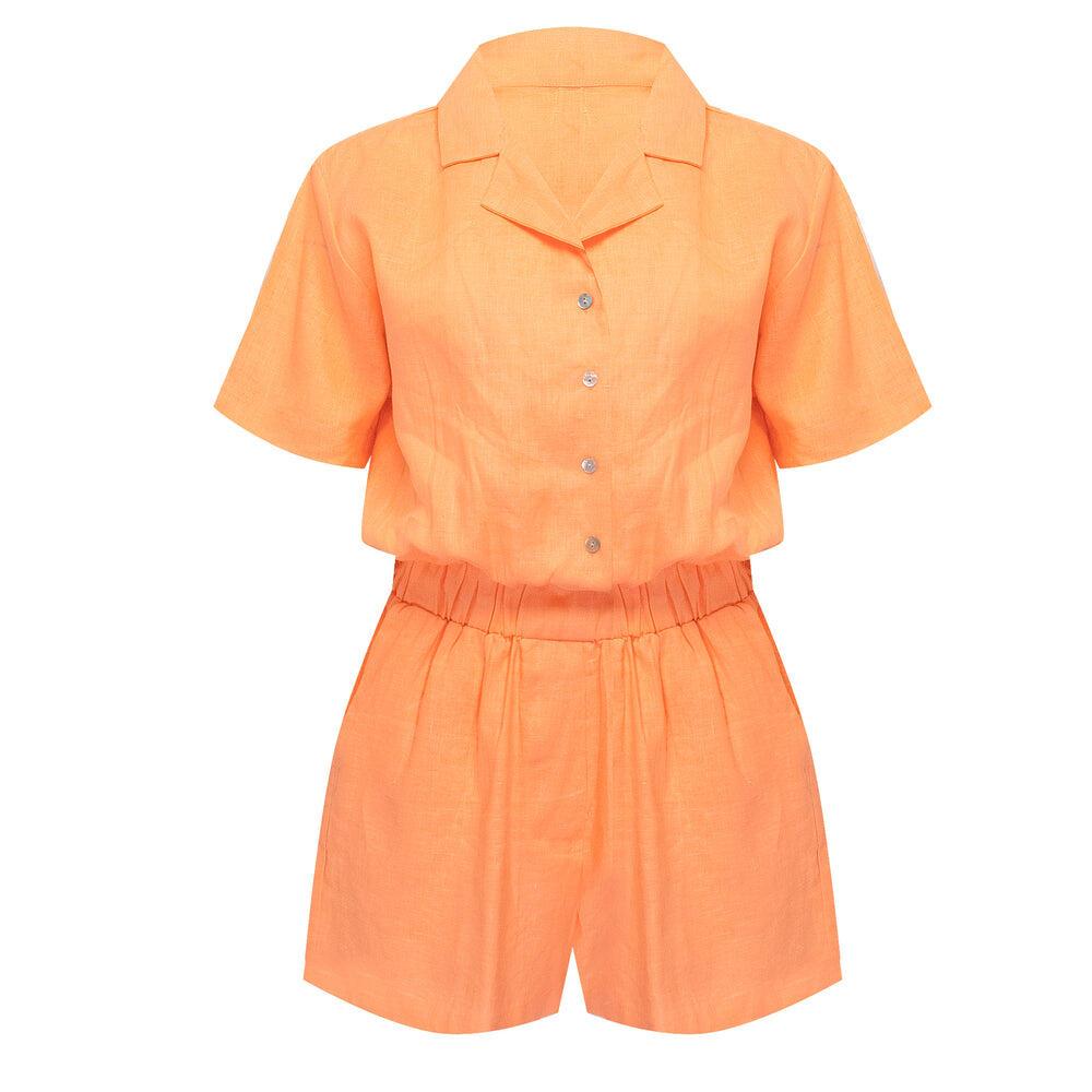 Palms Playsuit Bright Orange