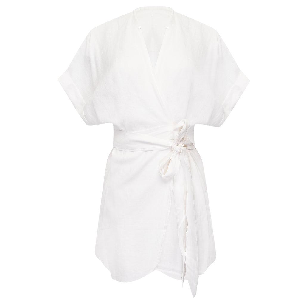Patina Wrap Dress Off White