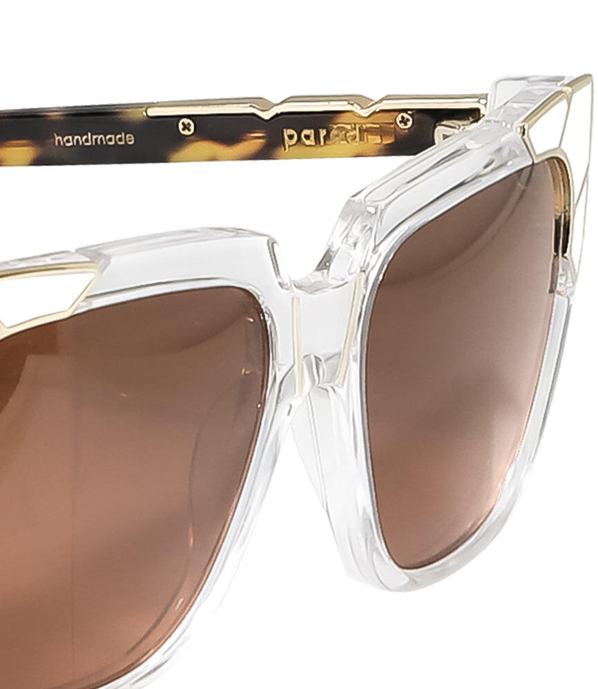 Pared Charlie & The Angels Clear with Gold & White Sunglasses