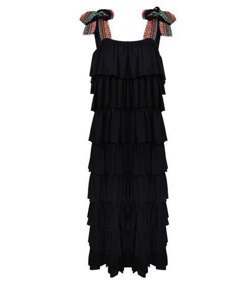 Pitusa Bow Dress Black