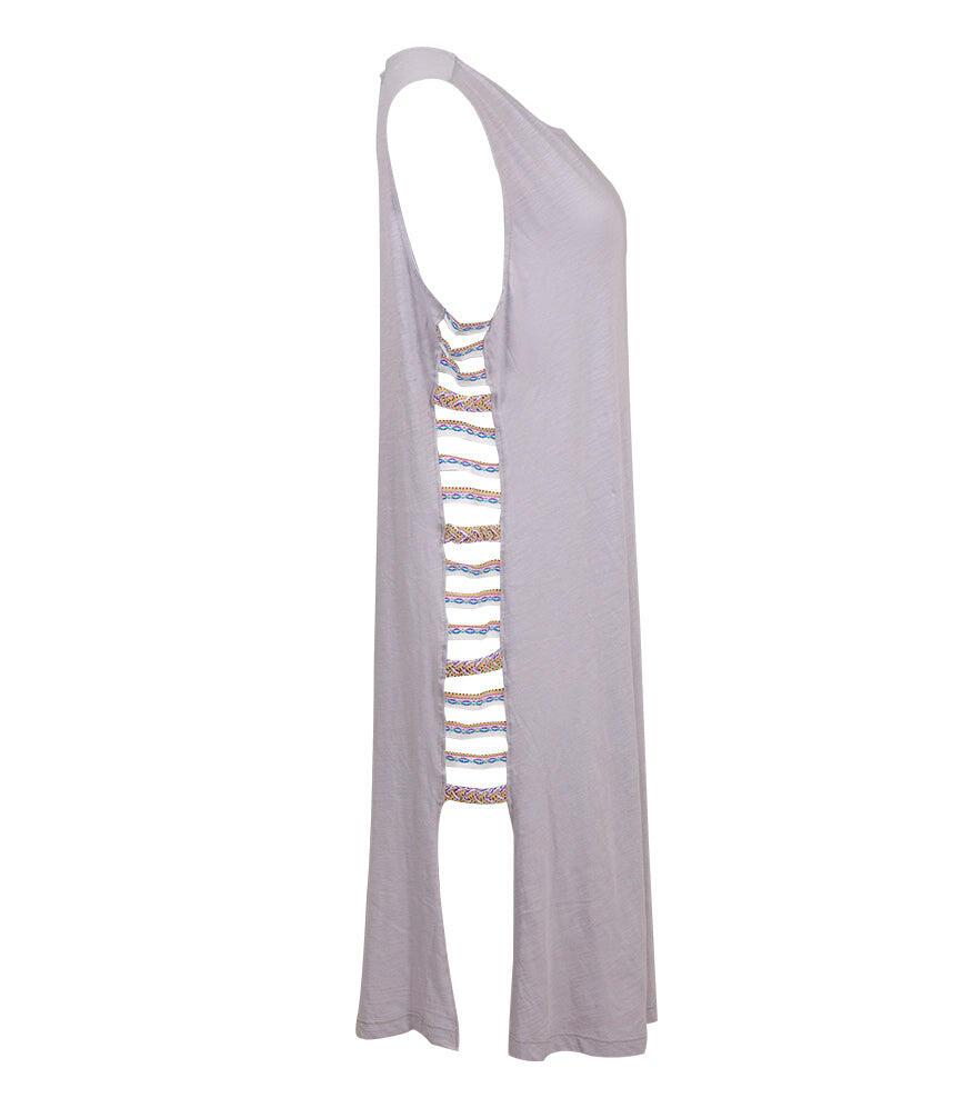Pitusa Braided Inca Dress Grey