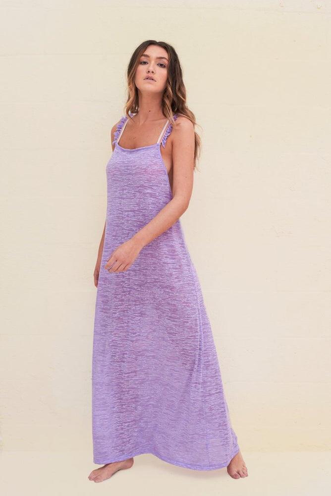 Flirty Cross Back Dress Lavender