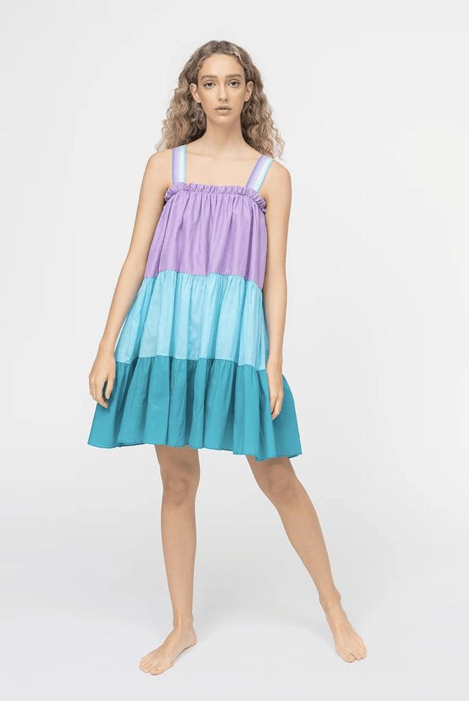 Lea Tea Dress Cool Tones