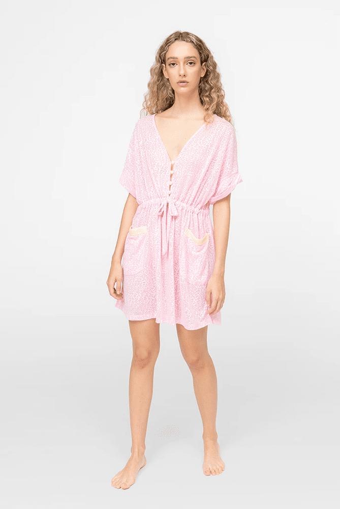 Pocket Mini Dress Light Pink