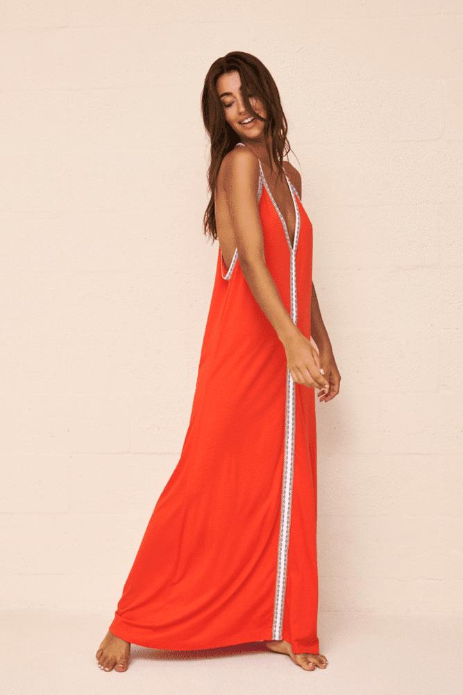 Pima Sundress Blood Orange