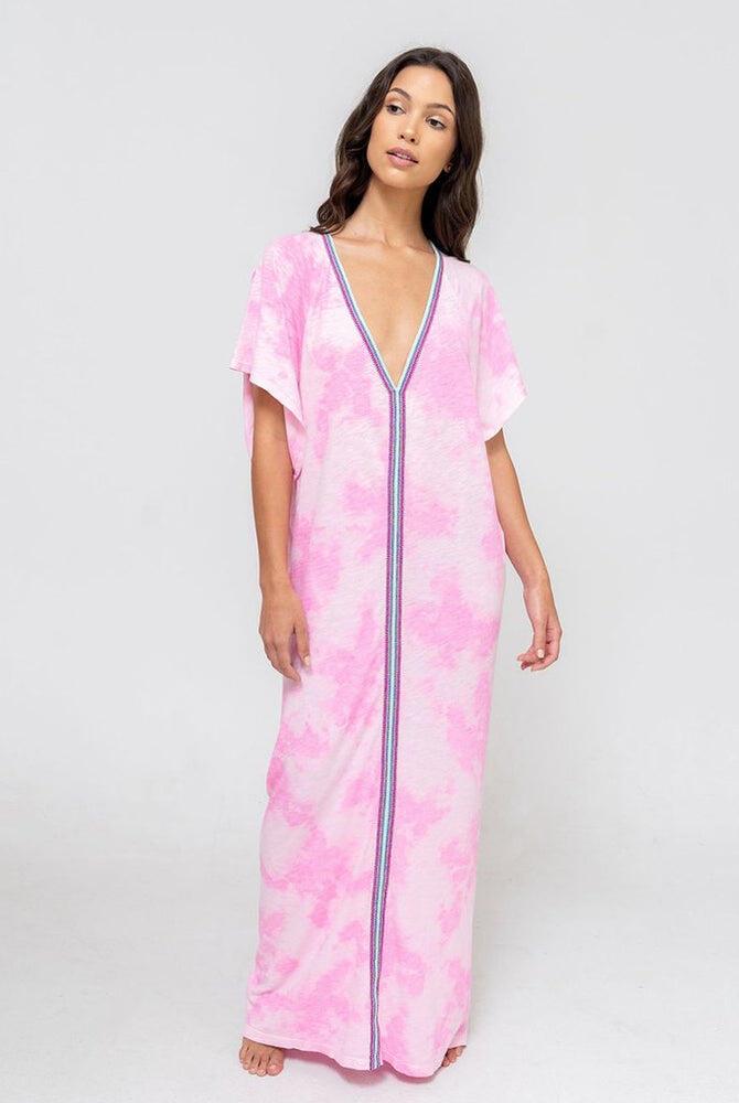 Tie Dye Inca Abaya Bubblegum Pink