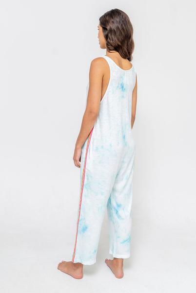 Tie Dye Jumpsuit Light Blue