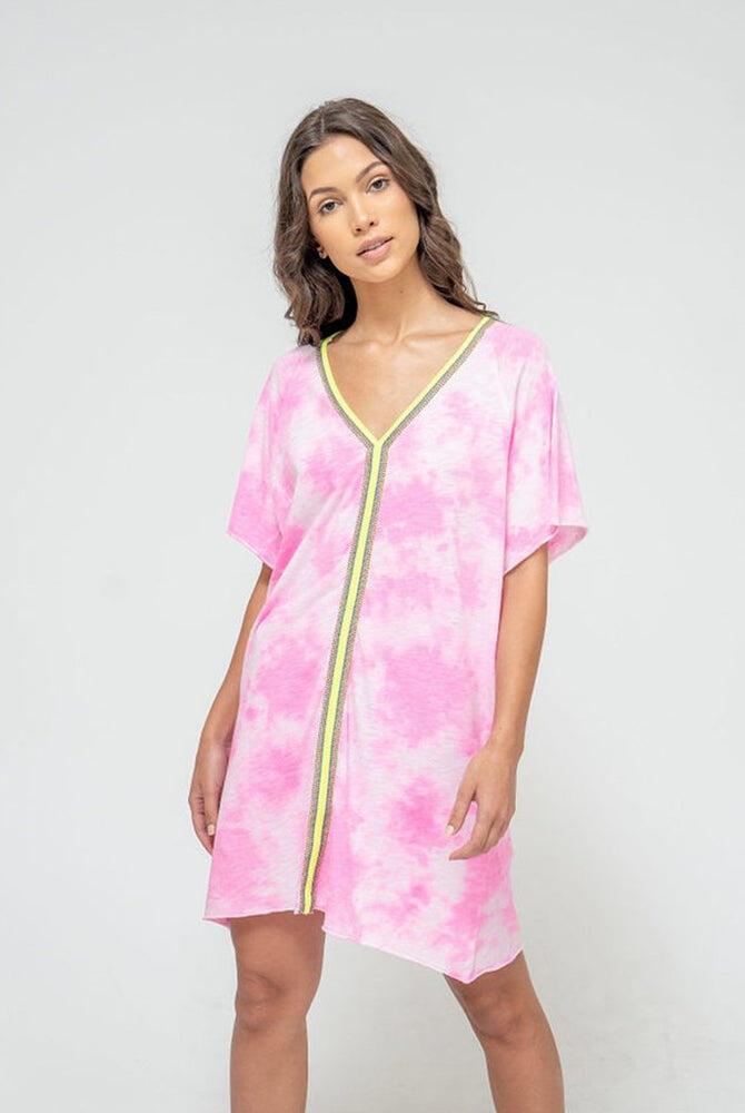 Tie Dye Inca Mini Abaya Bubblegum Pink