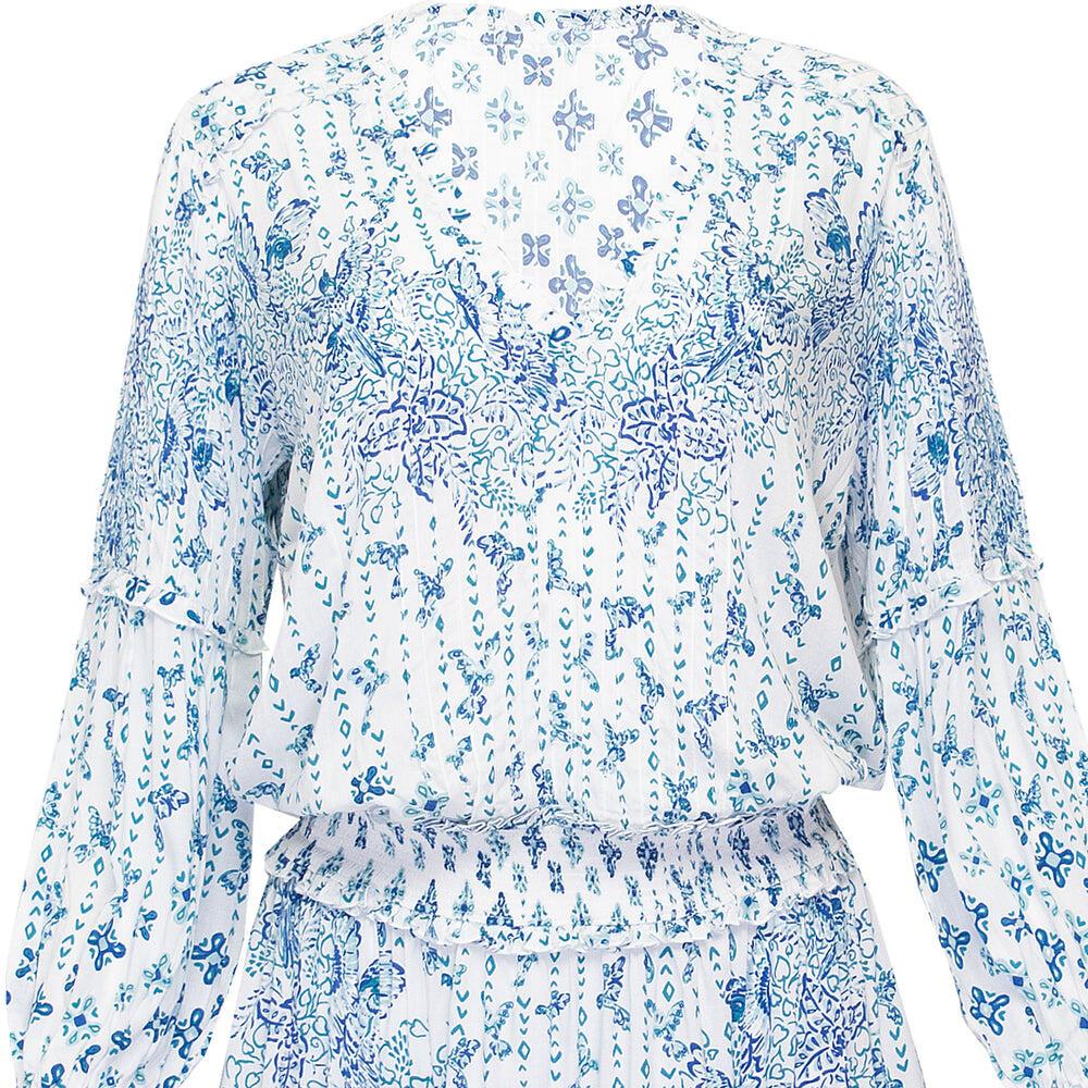 Mini Dress Ilona Long Sleeve Blue Parrot