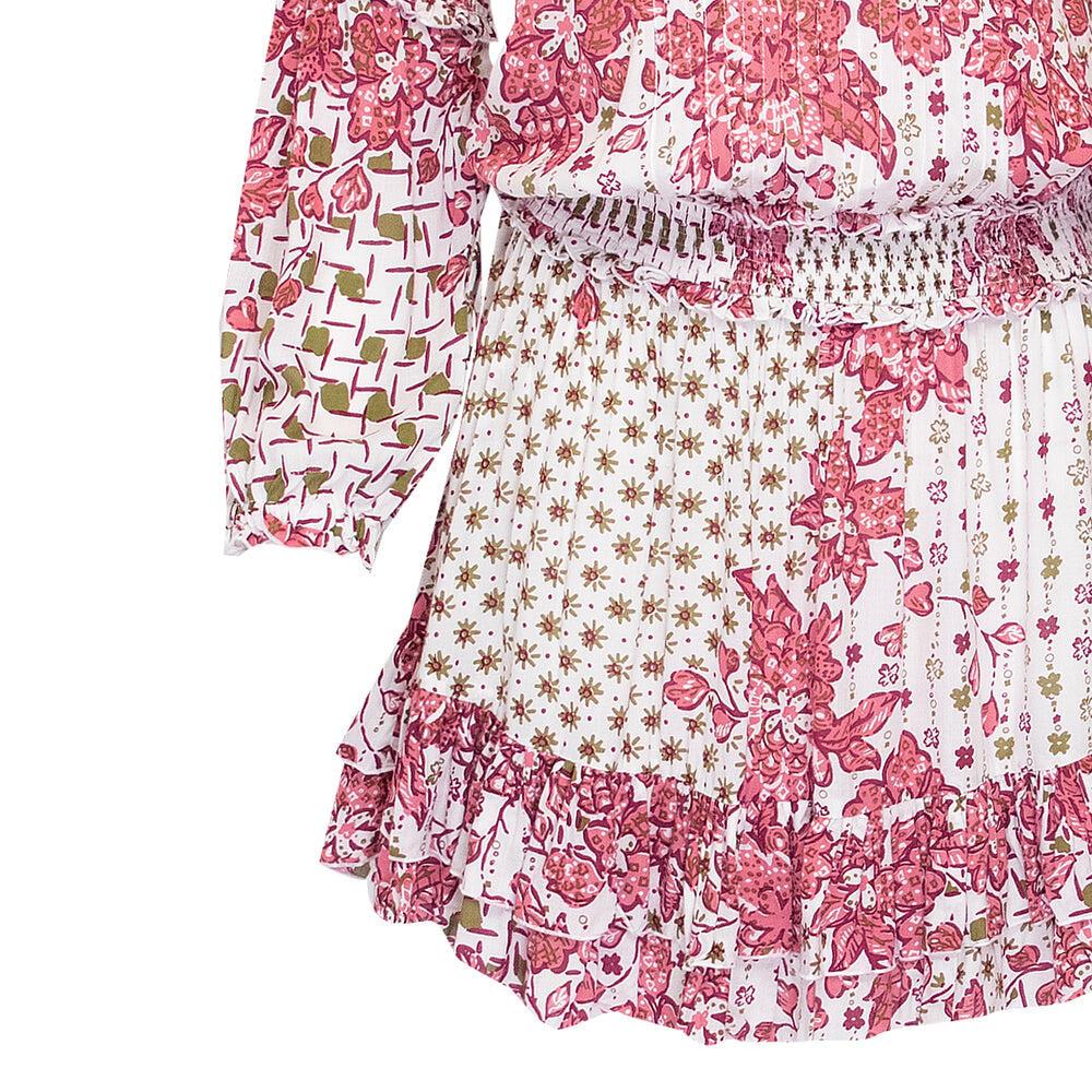 Mini Dress Ilona Long Sleeve Pink Edelweiss