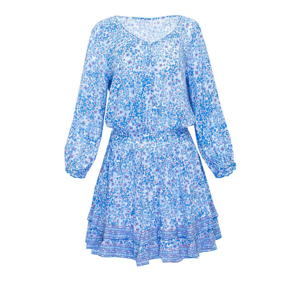 Mini Dress Selena Blue Hortensia