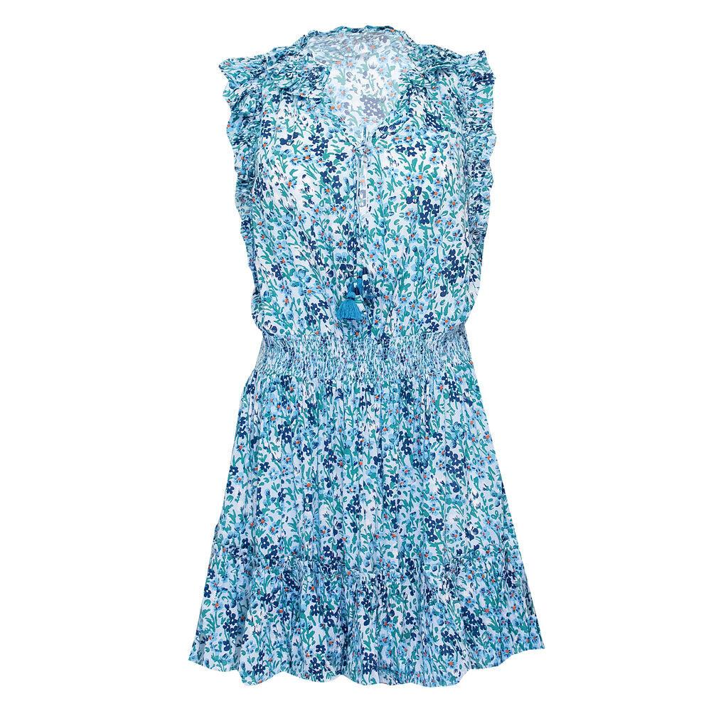 Mini Dress Triny Ruffled Blue