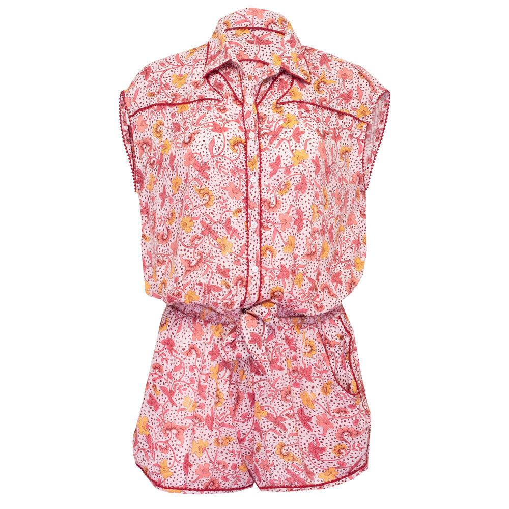 Short Jumpsuit Margo Pink Clary
